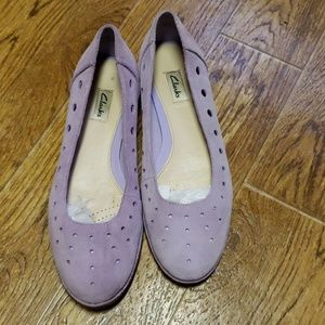 Lavender Clark's flat/loafers